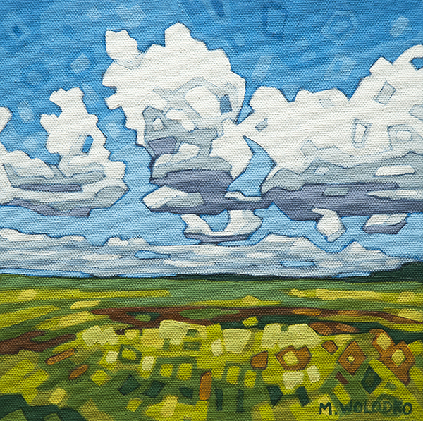"A Mix of Sun and Clouds 8""x8"""