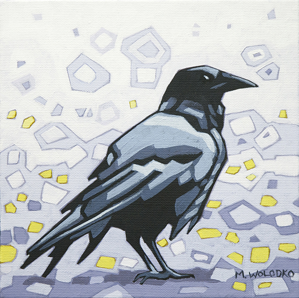 "Crow-1 8""x8"" (sold)"