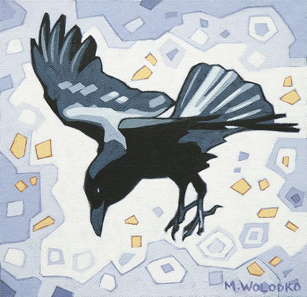 "Crow-3 8""x8"""