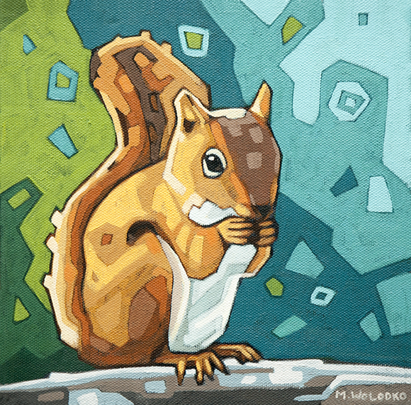 "Squirrel 8""x8"""