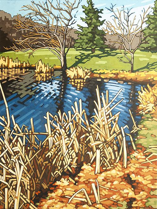"The West Pond 24""x18"""
