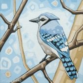 "Blue Jay (2) 8""x8"" (sold)"
