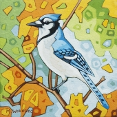 "Blue Jay 8""x8"" (sold)"