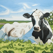"Daisy the Cow 14""x11"""