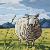 "Eunice Sheep 8""x8"""
