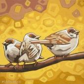 """Sparrows 8""""x8"""" (sold)"""