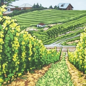"Summerland Vineyard 18"" x 24"""