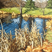"The West Pond 24""x18"""