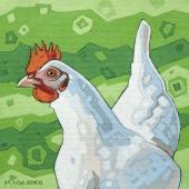 """White Hen 8""""x8"""""""