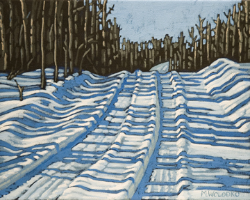 "Winter Tracks 8"" x 10"""