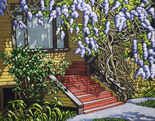 "Wisteria & Shadows  18""x14"""