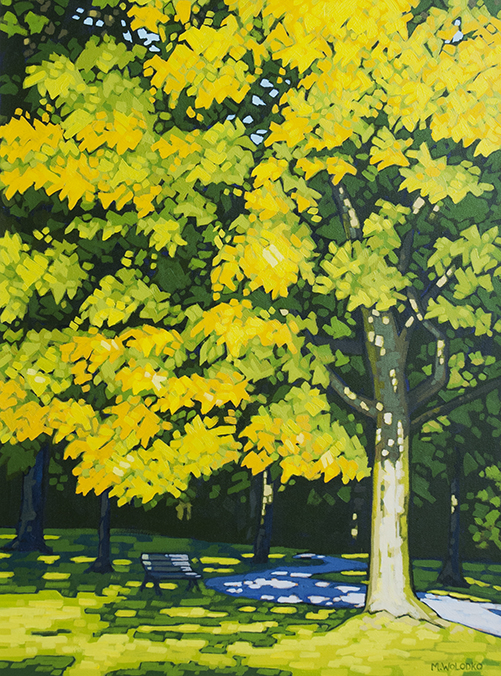 "Green to Yellow  24"" x 18"""