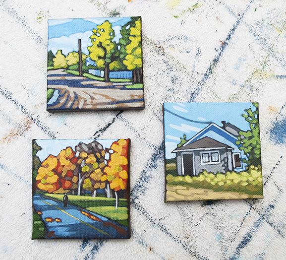 """3"""" x 3"""" paintings"""
