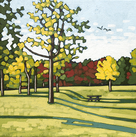 "Fall Shadows  8"" x 8"""