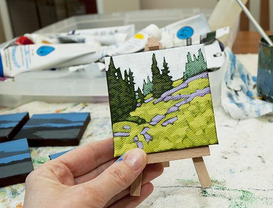 "Tiny Painting  3""x3"""