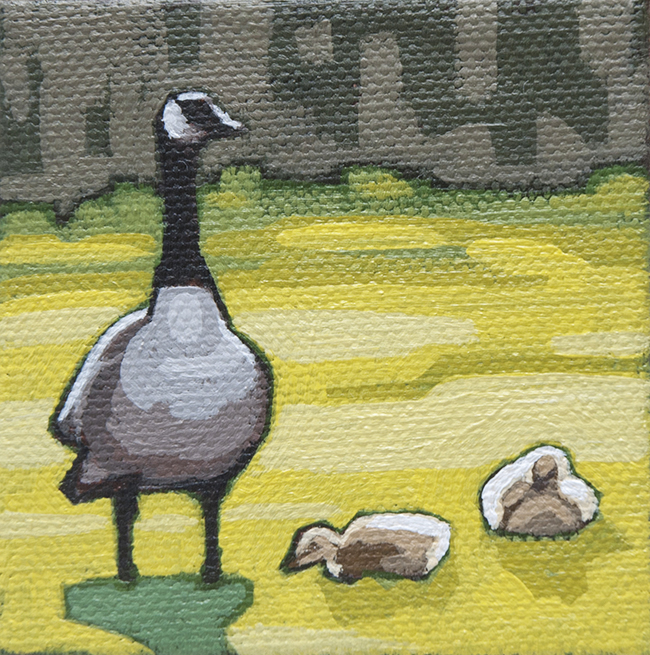 "Geese   3"" x 3"""