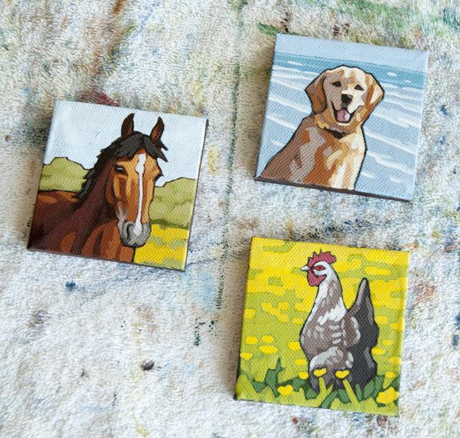 dog-horse-hen