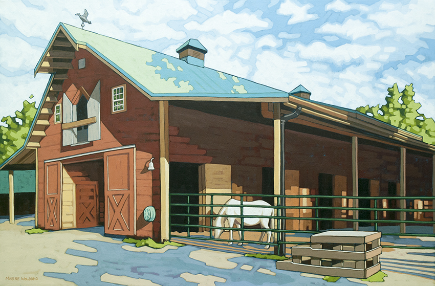 "Barn at Southlands Farm 24"" x 36"""